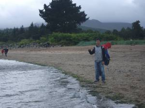 Wei explores Brodick Bay